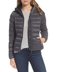 Canada Goose - 'brookvale' Packable Hooded Quilted Down Jacket, Grey - Lyst