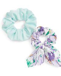 Cara - 2-pack Crepe Scrunchies, Purple - Lyst