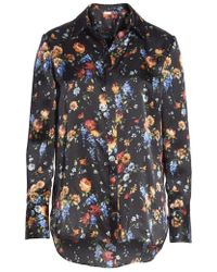 Adam Lippes - Floral Print Hammered Silk Blouse - Lyst