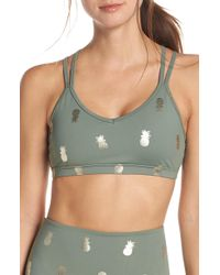 a65a271023230 Beyond Yoga - Pineapple Double Strap Sports Bra - Lyst