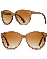 b21ebe3a541 Shwood -  madison  54mm Round Wood Sunglasses - - Lyst