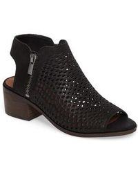 Lucky Brand - Nelwyna Perforated Bootie Sandal - Lyst