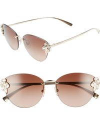 f6ba44811f Versace - Tribute 58mm Cat Eye Sunglasses - Pale Gold  Brown Gradient - Lyst