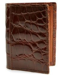 Martin Dingman - 'joseph' Genuine American Alligator Leather Id Wallet - - Lyst