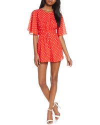 Finders Keepers - Finder Keepers Rosie Dot Romper - Lyst