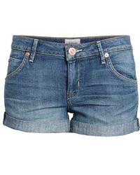 Hudson Jeans - Cuff Denim Shorts - Lyst