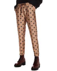 Scotch & Soda - Tailored Leopard Pants - Lyst