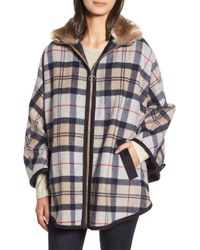 Barbour - Crieff Wool Cape - Lyst