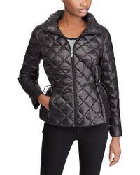 Lauren by Ralph Lauren - Packable Quilted Down Jacket, Black - Lyst