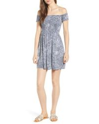 Volcom - She's So Daisy Off The Shoulder Dress - Lyst