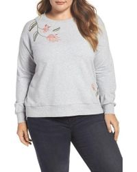 Two By Vince Camuto | Embroidered Sweatshirt | Lyst