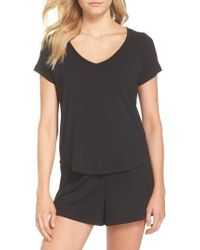Nordstrom - Breathe Rib Mix Short Pajamas - Lyst