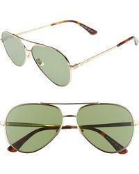 Saint Laurent - Classic 11 Zero 60mm Aviator Sunglasses - - Lyst