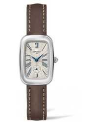 Longines - Equestrian Leather Strap Watch - Lyst