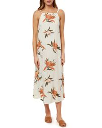 O'neill Sportswear - Caden Sleeveless Midi Dress - Lyst