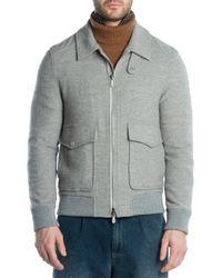 Eleventy - Wool & Cashmere Bomber Jacket - Lyst