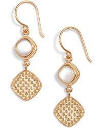 Anna Beck - Semiprecious Stone Double Drop Earrings - Lyst