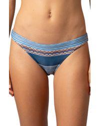 Rip Curl Riversong Cheeky Bikini Bottoms - Blue