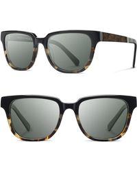 Shwood - 'prescott' 52mm Acetate & Wood Sunglasses - Lyst