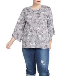 RACHEL Rachel Roy - Trendy Plus Size Bell-sleeve Top - Lyst