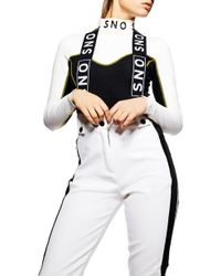 TOPSHOP - Sno Colorblock Suspender Trousers - Lyst
