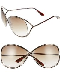 5d8ccfec8b3 Tom Ford - Miranda 68mm Open Temple Oversize Metal Sunglasses - - Lyst