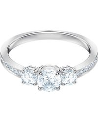 Swarovski - Attract Trilogy Crystal Ring - Lyst