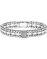 Lagos - Caviar Spark Diamond Rectangle Link Bracelet - Lyst