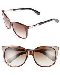 Kate Spade - Julieanna 54mm Sunglasses - Dark Havana/ Gold - Lyst