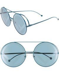394eb8c8f1e Fendi - Run Away 63mm Round Sunglasses - Petrol - Lyst