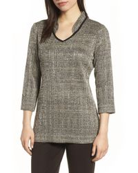 Ming Wang - Textured Knit Tunic - Lyst