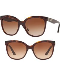 Burberry - Marblecheck 55mm Square Sunglasses - - Lyst