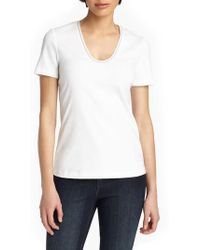 Lafayette 148 New York - Grace Chain Trim Top - Lyst