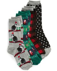 Hot Sox - 4-pack Holiday Cats Socks, Black - Lyst