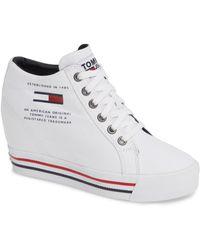 Tommy Hilfiger - Wedge Sneaker - Lyst