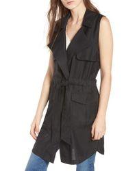 a4bb3d9d5eb Lyst - Bobeau Fleece Step Hem Jacket (plus Size) in Black