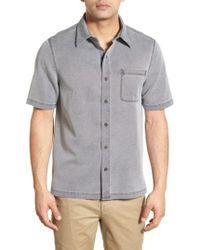 7bffda67 Nat Nast - 'havana Cloth' Regular Fit Short Sleeve Silk & Cotton Sport Shirt