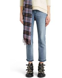 Burberry - Relaxed Crop Jeans - Lyst