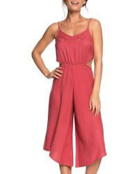 Roxy - Waterfall Reflect Wide Leg Crop Jumpsuit - Lyst