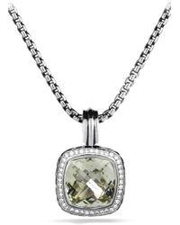 David Yurman - 'albion' Pendant With Semiprecious Stone & Diamonds - Lyst