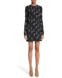 Cushnie et Ochs - Beaded Silk Crepe Dress - Lyst