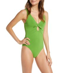b7b51365c9 Robin Piccone - Ava Underwire One-piece Plunge Swimsuit - Lyst