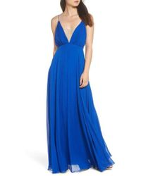 JILL Jill Stuart - Pleated Empire Waist Gown - Lyst