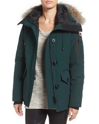 Women's Canada Goose' 'Rideau' Slim Fit Down Parka, Size Medium - Green