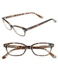 Corinne Mccormack - 'cyd' 50mm Reading Glasses - Transparent Brown Marble - Lyst