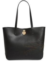 Longchamp - Medium Shop-it Leather Tote - Lyst