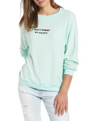 Wildfox - Be Happy Sweatshirt - Lyst