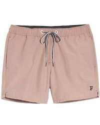 French Connection - Marco Slim Fit Swim Trunks - Lyst
