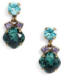 Sorrelli - Balsam Crystal Drop Earrings - Lyst