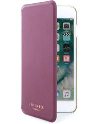 Ted Baker | Shannon Iphone 6/7 Plus Mirror Folio Case | Lyst